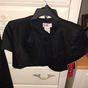 NWT Black Short-sleeve Shrug